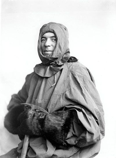 "Credit: Royal Geographical Society Collection Frank Hurley (1885–1962) was an Australian photographer and adventurer. This picture shows him in his Burberry sledging outfit during the Imperial Trans-Antarctic Expedition (1914–1917), which was led by Ernest Shackleton. Lionel Greenstreet, first officer of the Endurance, said: ""Hurley is a warrior with his camera and would go anywhere or do anything to get a picture."""