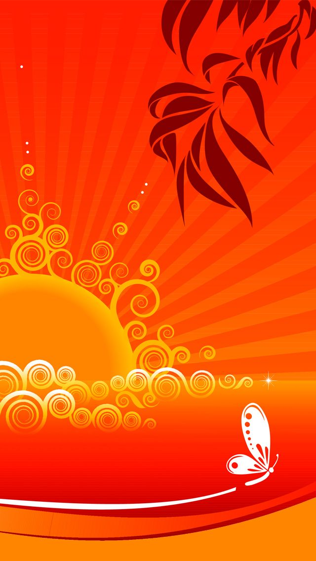 Tropical Orange Yellow Butterfly iPhone 5 Wallpaper Tropical Orange Yellow Butterfly iPhone 5 Wallpaper