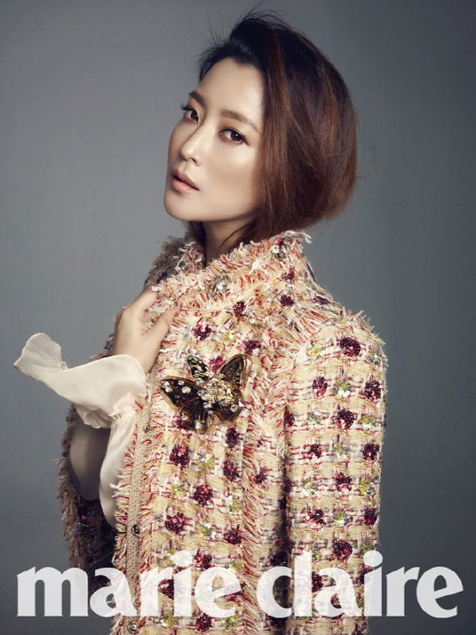 Kim Hee Sun Is A Classy Professional For Marie Claire Korea's February 2014 Issue