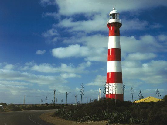 The light was first exhibited in 1878. The Moore Point Lighthouse was the first all steel tower built on the mainland of Australia. It is also the oldest surviving Western Australia lighthouse under Federal control.