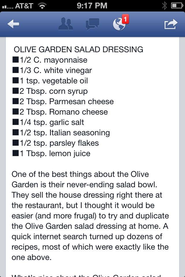 1000 ideas about olive garden salad on pinterest salad - Low calorie meals at olive garden ...