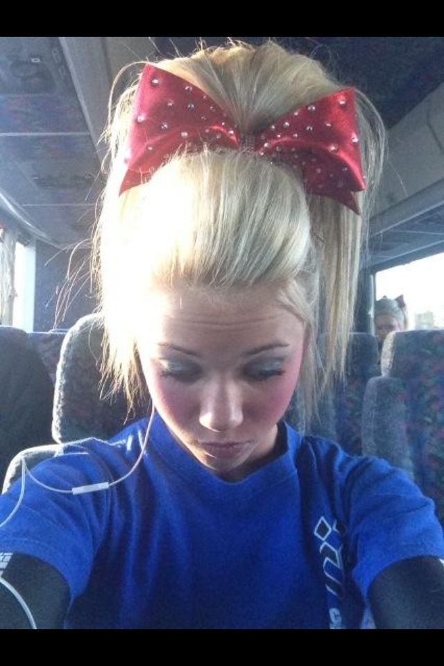 Carly Manning from Cheer Athletics Panthers: Perfect poof cheerleading hair!