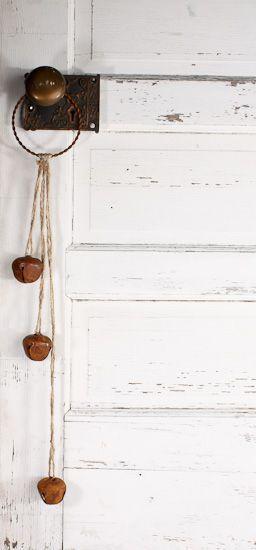 Primitive Rusty Jingle Bell Door Knob Hanger Rusty Tin