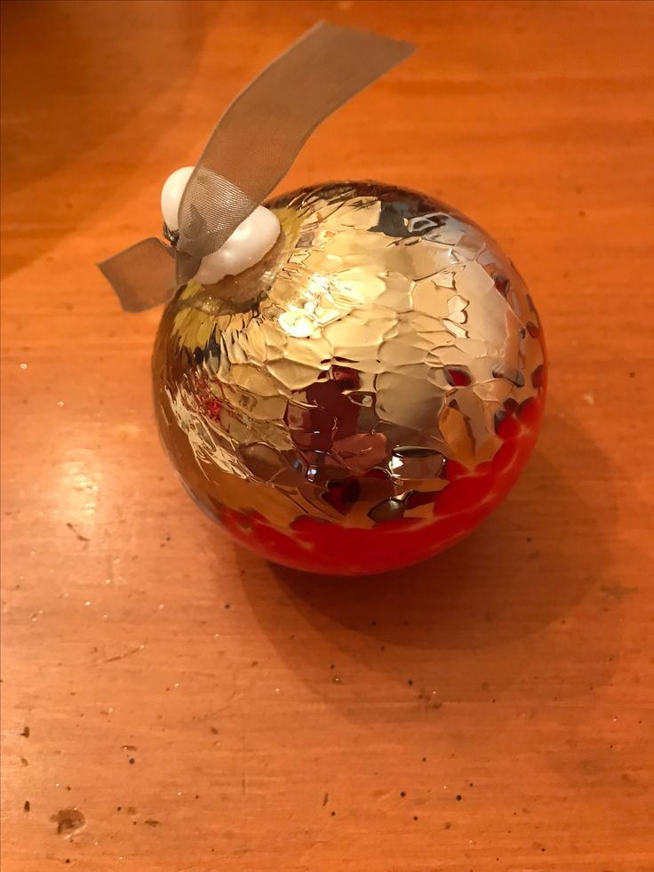 Ted Jolda - Red & Gold Christmas Ornament