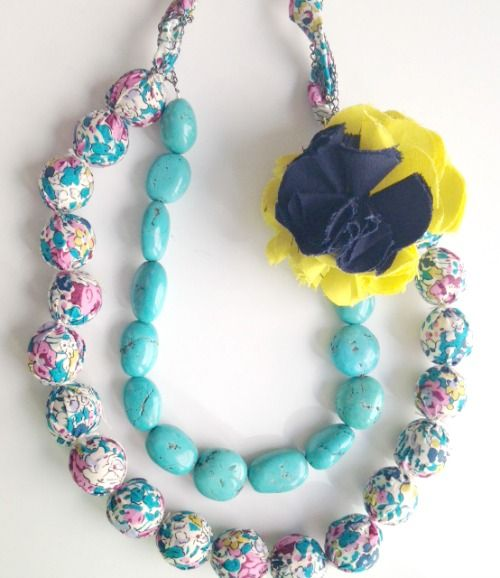 Just For You Sewlebrity Sewalong... Rachel Low sews the Fabric Covered Beads Necklace — SewCanShe   Free Daily Sewing Tutorials