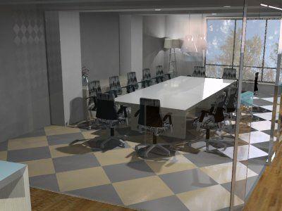 Open boardroom floor plan