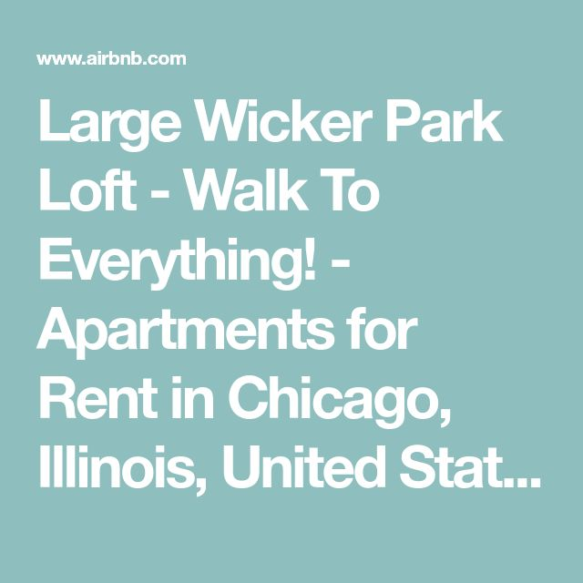 Large Wicker Park Loft - Walk To Everything! - Apartments for Rent in Chicago, Illinois, United States