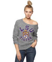 LSU Tigers Scoop Neck Sweatshirt