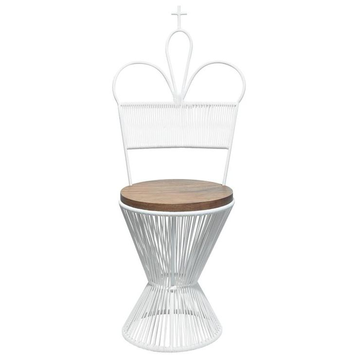 """""""Design Chess"""" King Chair by Mexa in White 1"""