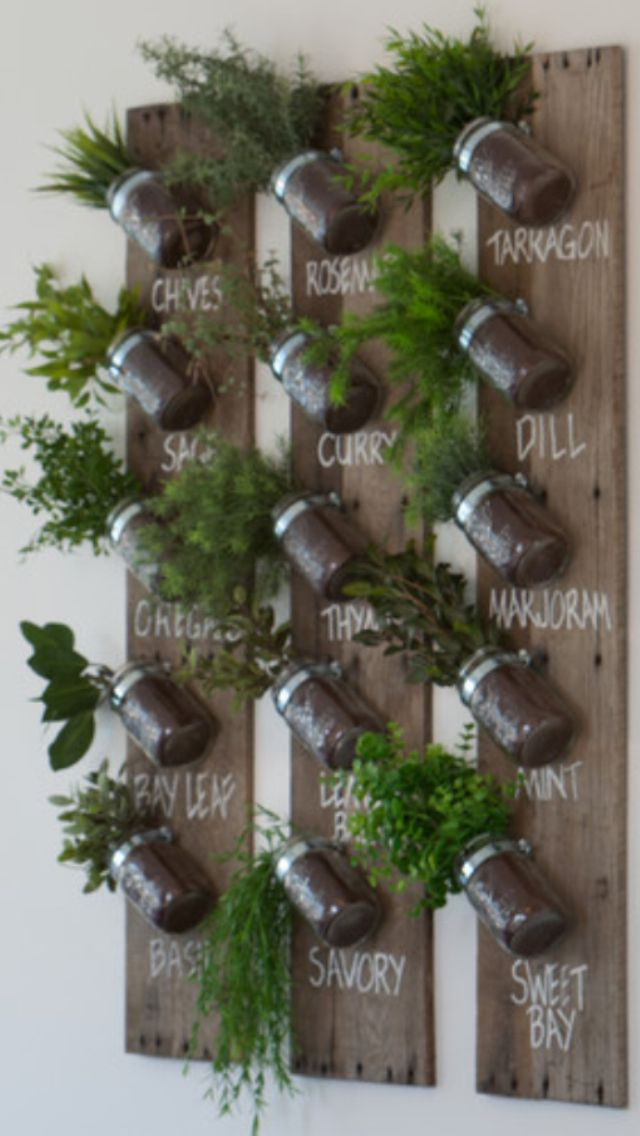 25 best ideas about wall herb gardens on pinterest herb for Pot mural exterieur
