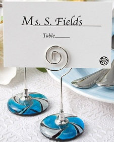 murano glass collection place card holders wedding