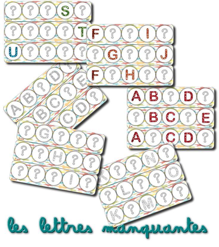 Voici des plateaux A3 (plastifiez et scotchez les 2 parties) pour jouer à reconstituer l'alphabet avec des bouchons de bouteilles de lait. ...