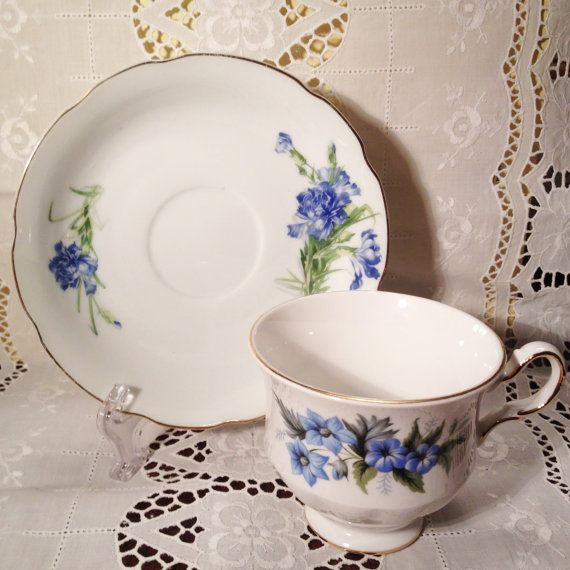 Vintage Queen Anne Single Bone China Tea Cup by ViolasValuables