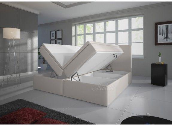 Boxspring Sona is zeer compleet, heeft een moderne uitstraling en staat garant voor een comfortabele nachtrust. Dit model beschikt over een hoofdbord, box met stevige poten, bonellveringmatras en topdekmatras. De gehele boxspring is bekleed met een sterke stof in een gebroken witte kleur. De matrassen zijn omhoog te klappen middels het inbegrepen gasliftsysteem. Deze is verkrijgbaar in 140x200 / 160x200 / 180x200 cm.