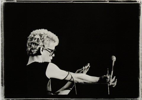 Lou Reed confronts his wife on stage.
