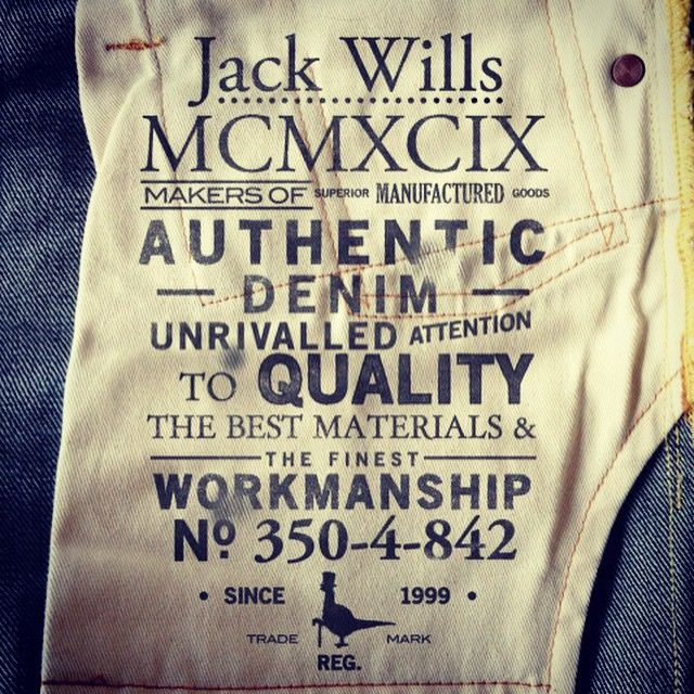 http://www.4th-avenue.com/ 4thavenuegraphics #4thAvenueGraphics #jackwills #graphicdesign #labels #apparel #logos #denim