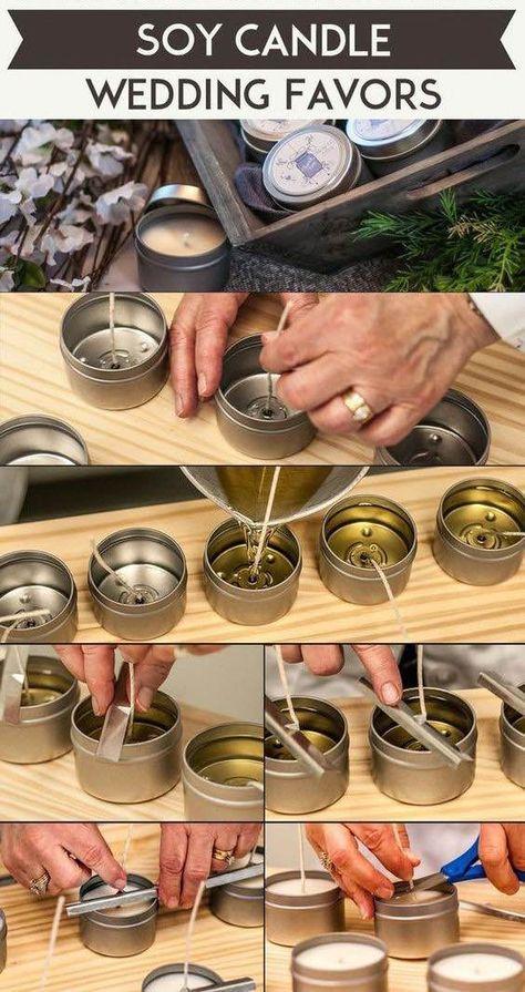 Velas de soja hechas en casa como recuerdo de boda. Checa el paso a paso! Ecological and simple homemade wedding favors. Soy candles.