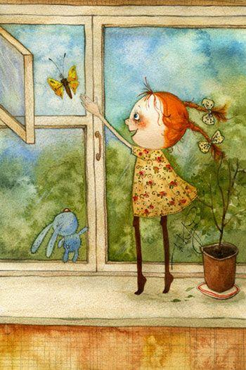 VICTORIA KIRDIY - Russian Artists, Illustrator Бабочка    Vika Kirdiy