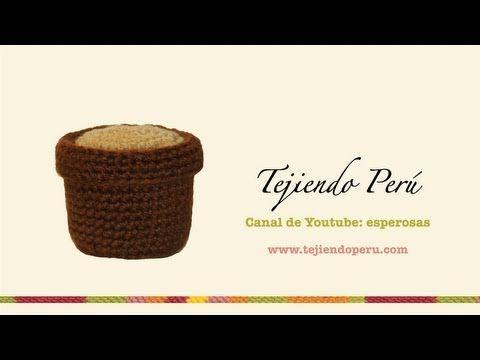 Cactus amigurumi (crochet): macetero tejido a crochet - YouTube