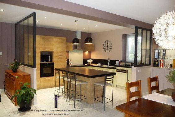 Esprit cottage british en Normandie, we love that ! Normandie - cuisine ouverte sur salon m