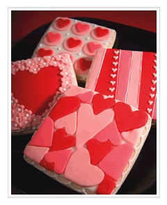 sweet valentine cookies (looks like Better Bit of Butter's work)