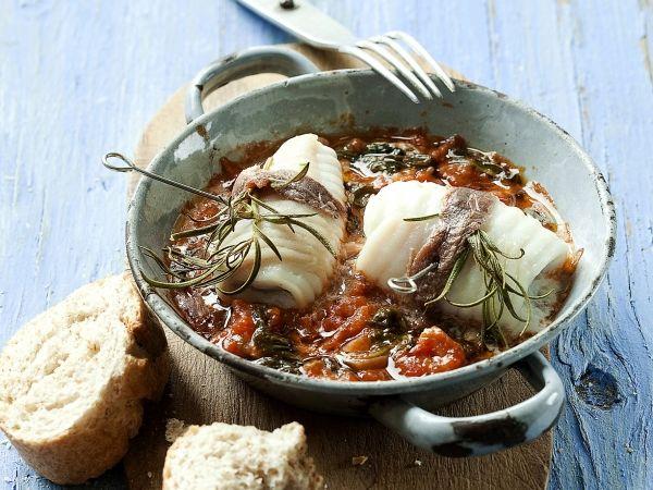 Stoofpotje van rog met spinazie en tomaat - Libelle Lekker!