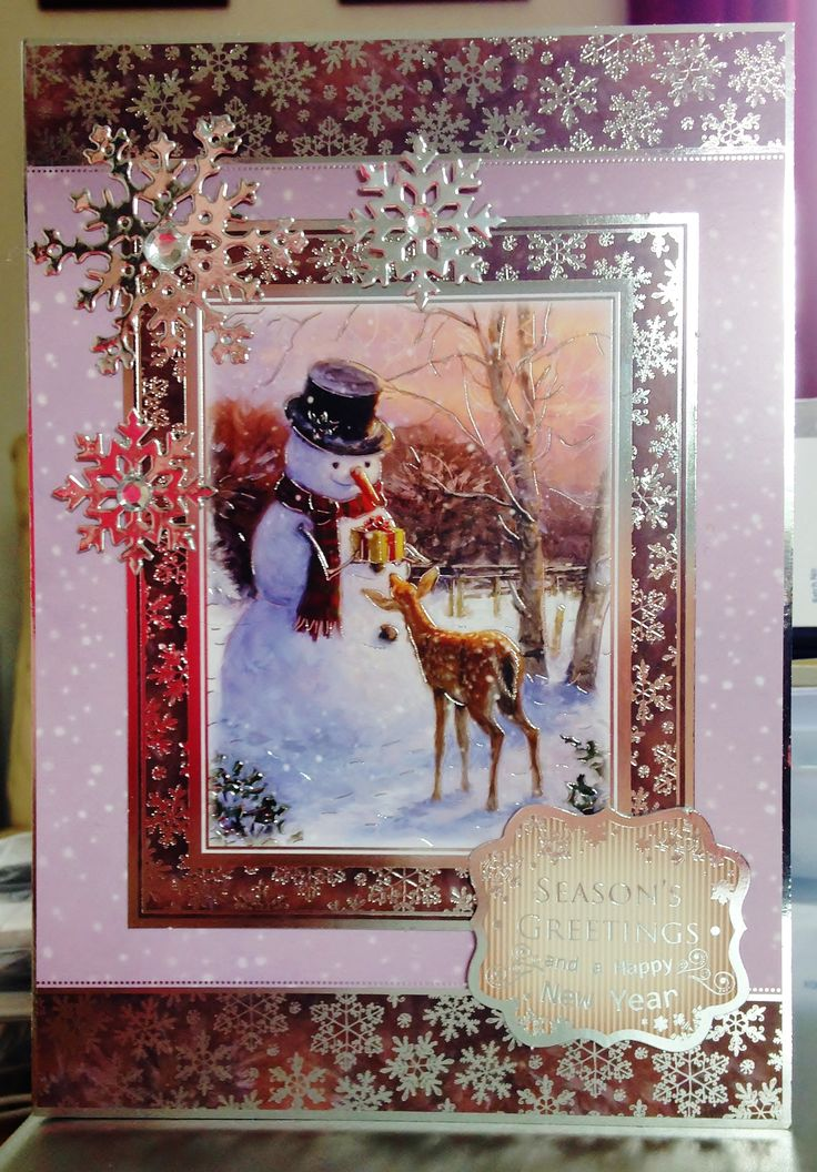 (28) Christmas Card (A5) makings from Hunkydory 'White Christmas' Collection