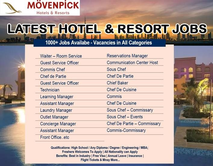 Movenpick Careers With Images Hotel Resort Guest Services