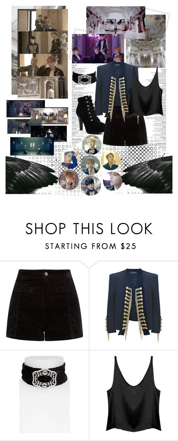 """""""BTS - Blood, Sweat & Tears"""" by ninaxo17 ❤ liked on Polyvore featuring Balmain and Topshop"""