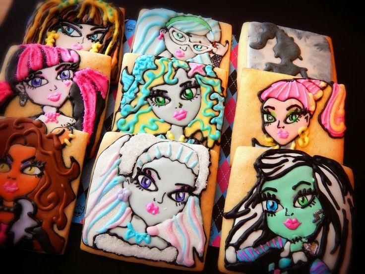 Monster High Cookies #monsterhigh #monsterhighbirthday  decorated cookies