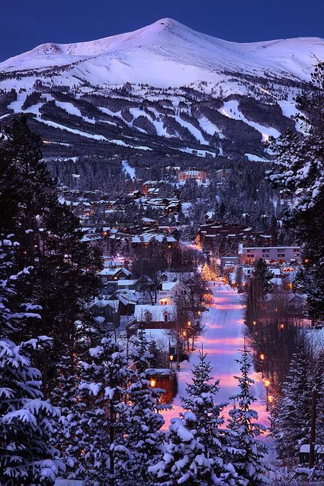 Breckenridge, Colorado. The nicest town ever to stay in during a ski vacation. Skiing here is heaven, champagne powder snow !