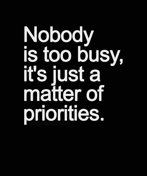 Matter Of Priorities - Life Quote | Full Dose #Quotes #Cyprus