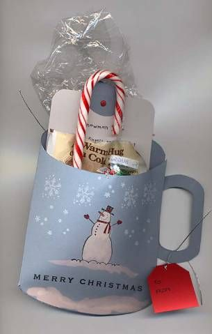 Snowman soup. I revamped the mug template from Mirkwood website so that you could easily cut the inside of the handle with the Key Tag punch.