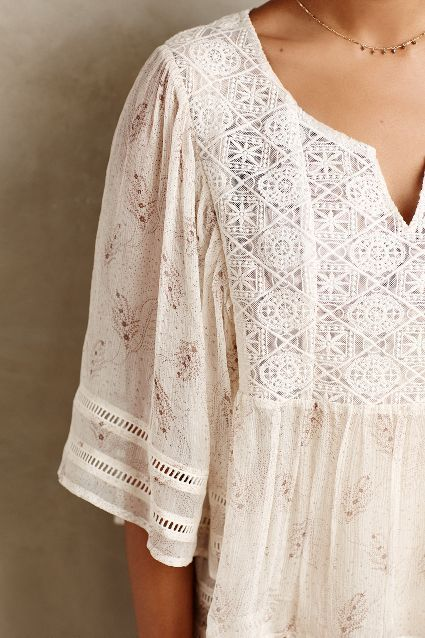 Aeris Silk Peasant Blouse - anthropologie.eu