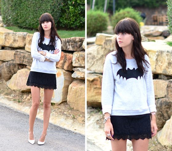 Batman - Sweats and Lace (by Lucy De B.) http://lookbook.nu/look/4058876-Sweats-and-Lace