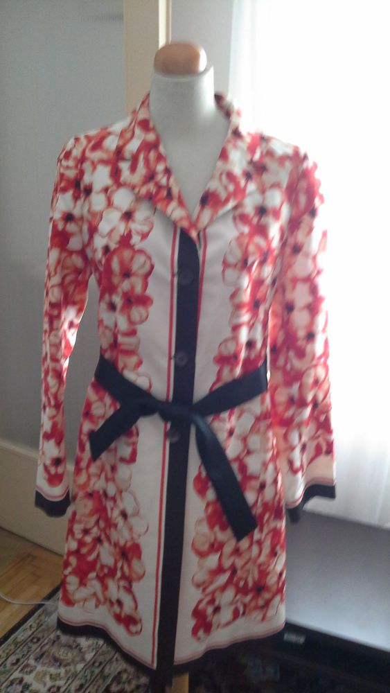 CELINE FLORAL SILK TRENCH SIZE 42 #Celine #Trench