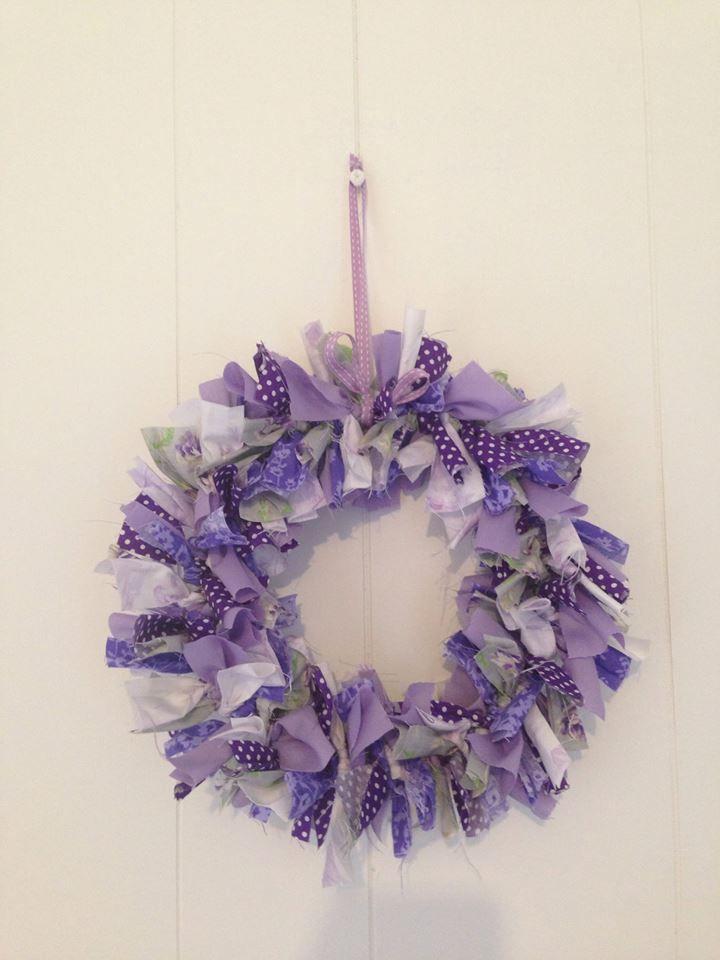 Purple Wreath  #buntingtree #wreath #purple #homedecor #decor