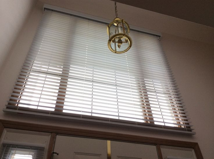 Blinds For Large Foyer Window : Big and beautiful quot devine white sandblast faux