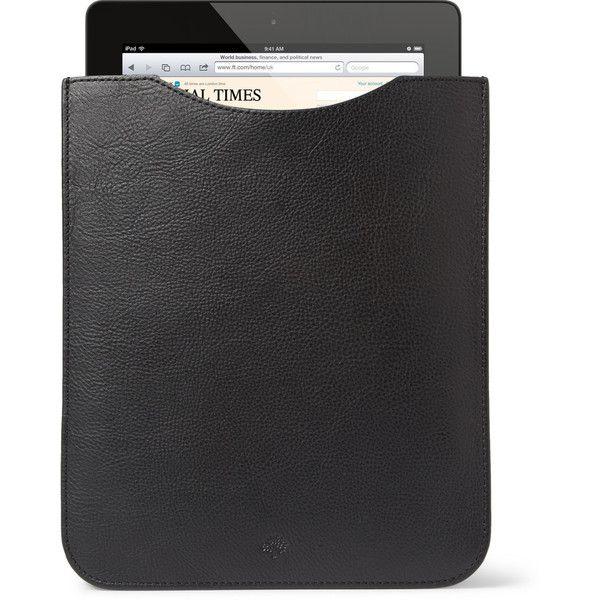 Mulberry Full Grain Leather iPad Sleeve ($196) ❤ liked on Polyvore
