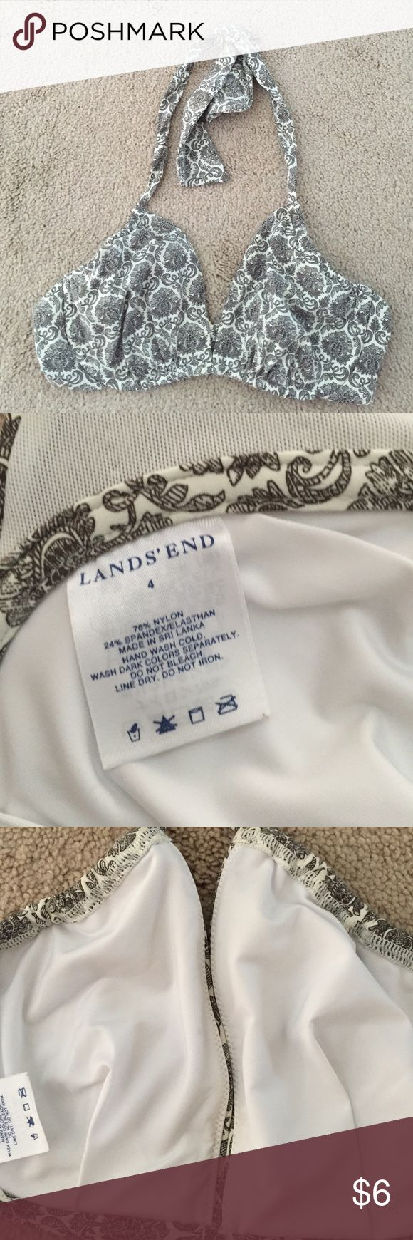 Lands End wired bikini top size 4 Lands End wired bikini top size 4 Lands' End Swim Bikinis