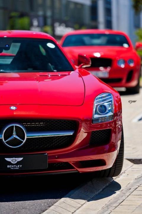 Mercedes-Benz SLS AMG | BENTLEY Continental GT Supersports