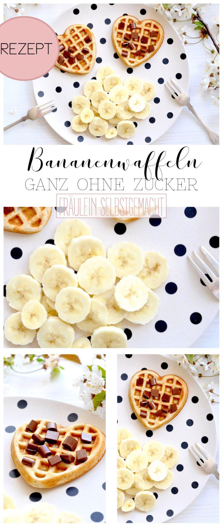 Leckere Bananenwaffeln ganz ohne Zucker und super lecker