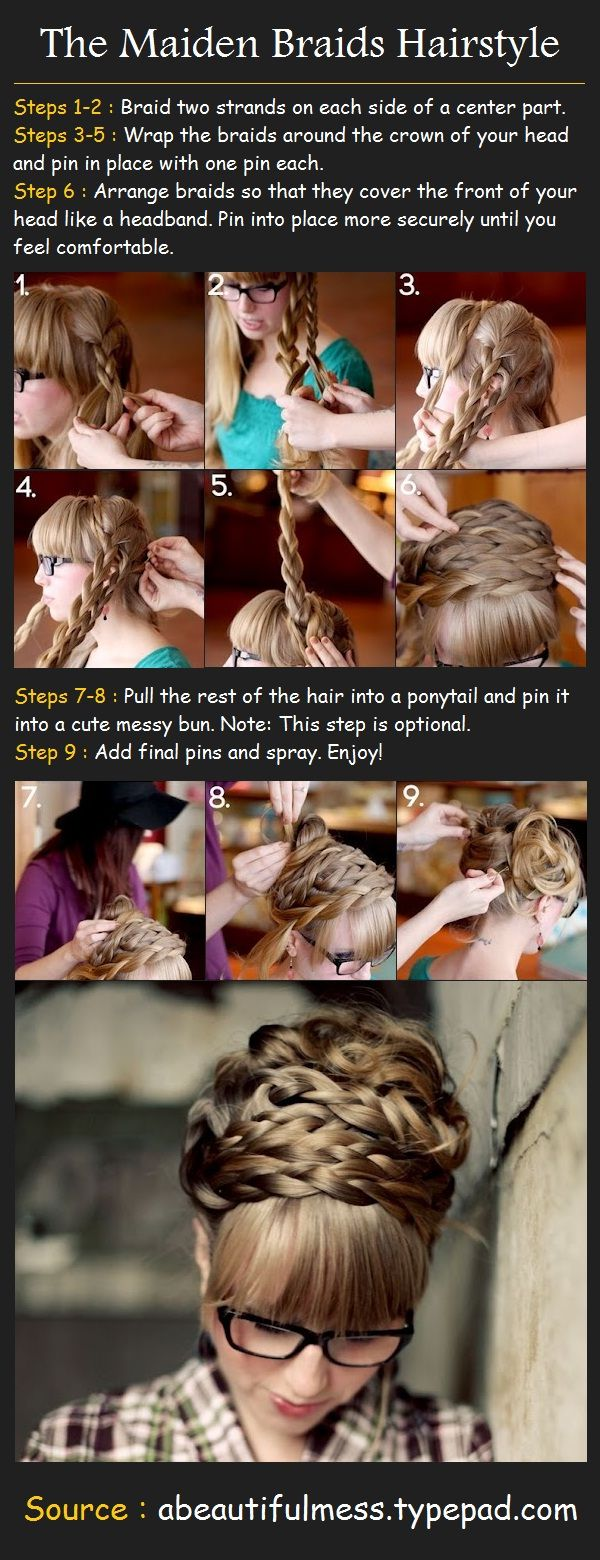 The Maiden Braids Tutorial | Beauty Tutorials wish i could do something like this to my hair love it