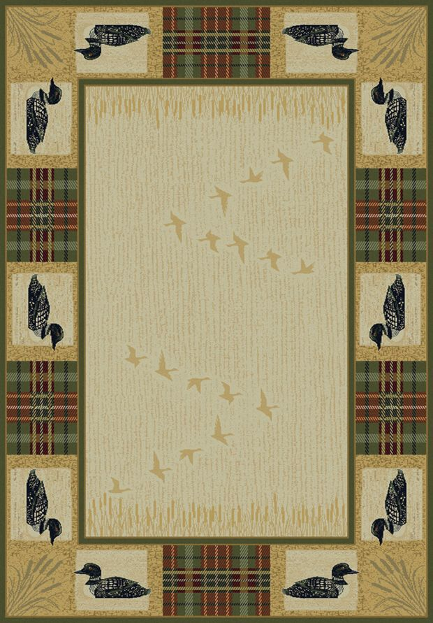 Loon Rug Available In Five Sizes From Cabin Creations Phillips Wi Www