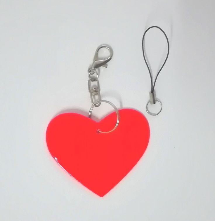 심장 모델 반사 펜던트, 반사 키 체인 보이는 안전 나왔죠 가방, 휴대 전화, 의류. 무료 배송