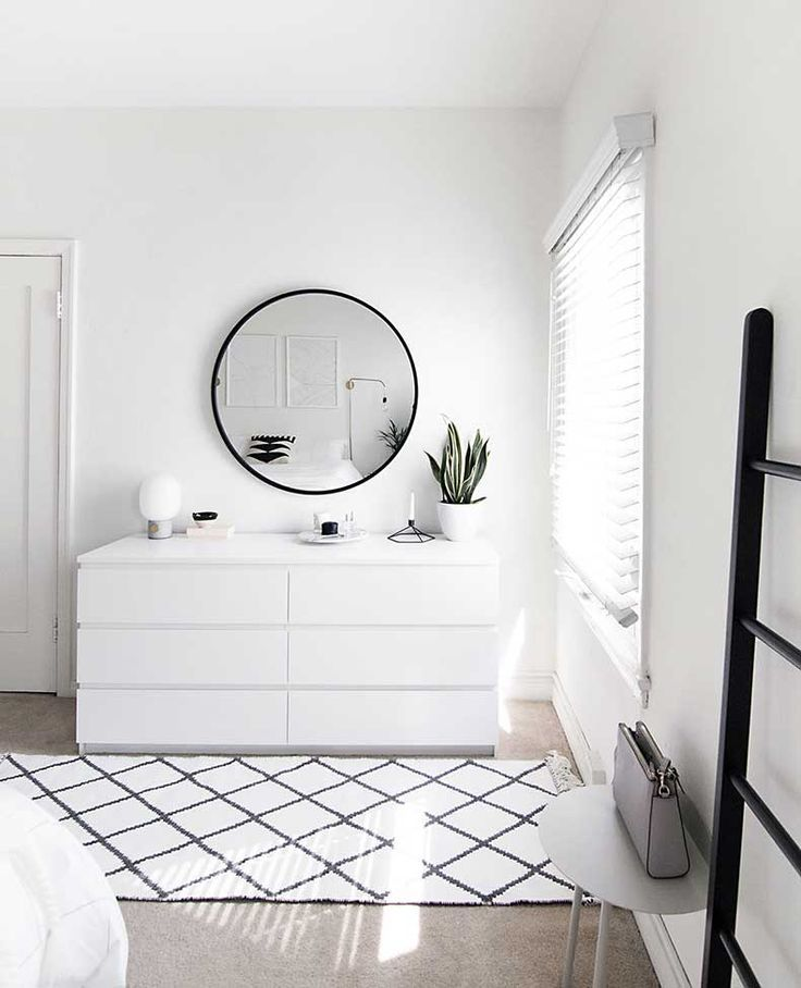 White-Kommode-Minimal-Schlafzimmer