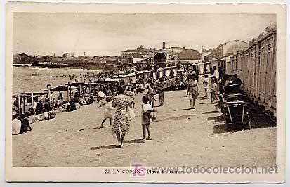 LA CORUÑA. PLAYA DE RIAZOR. ED. LIBR. LINO PEREZ. L. ROISIN, FOTOGRAFO.
