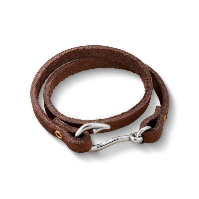 Fish Hook Leather Bracelet | James Avery