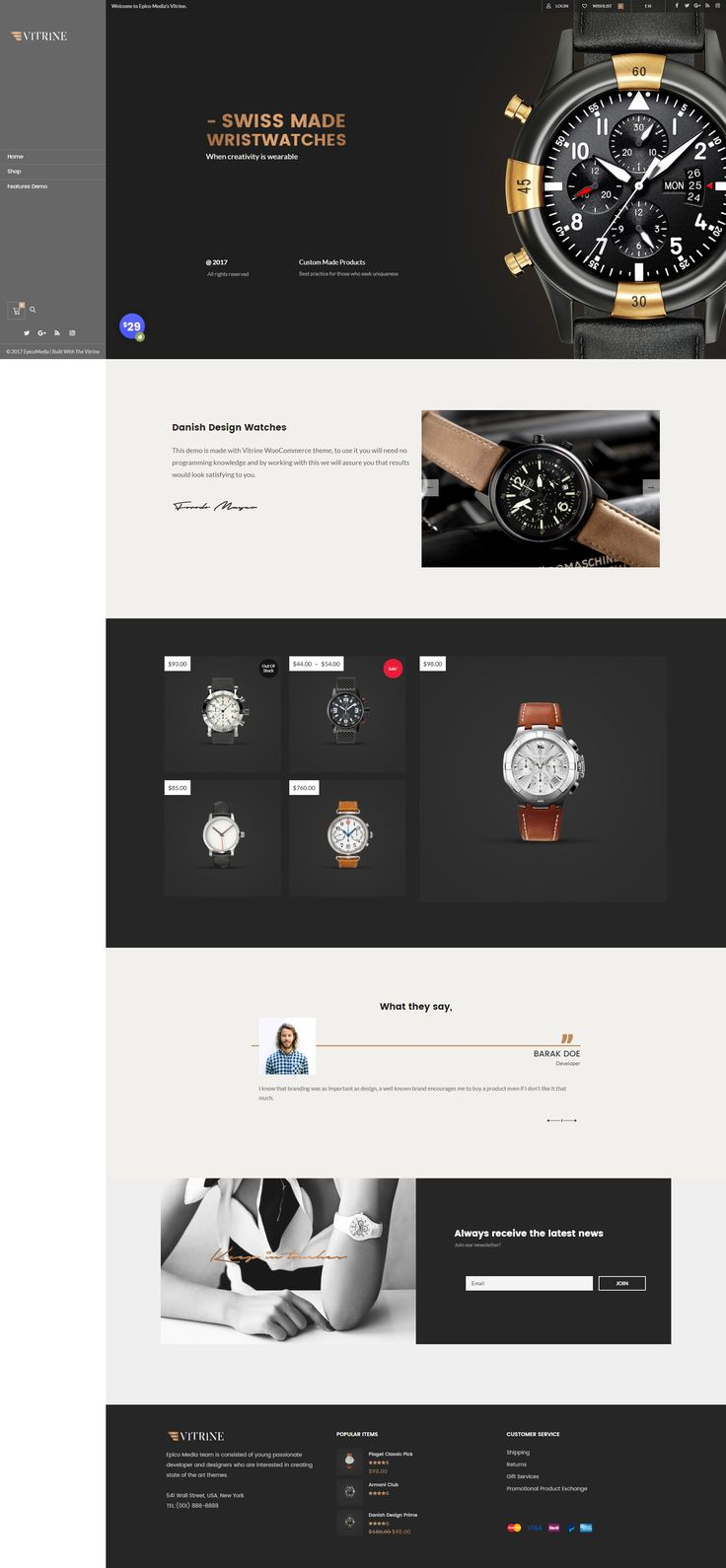 #wordpress #woocommerce #website #theme #design #classic