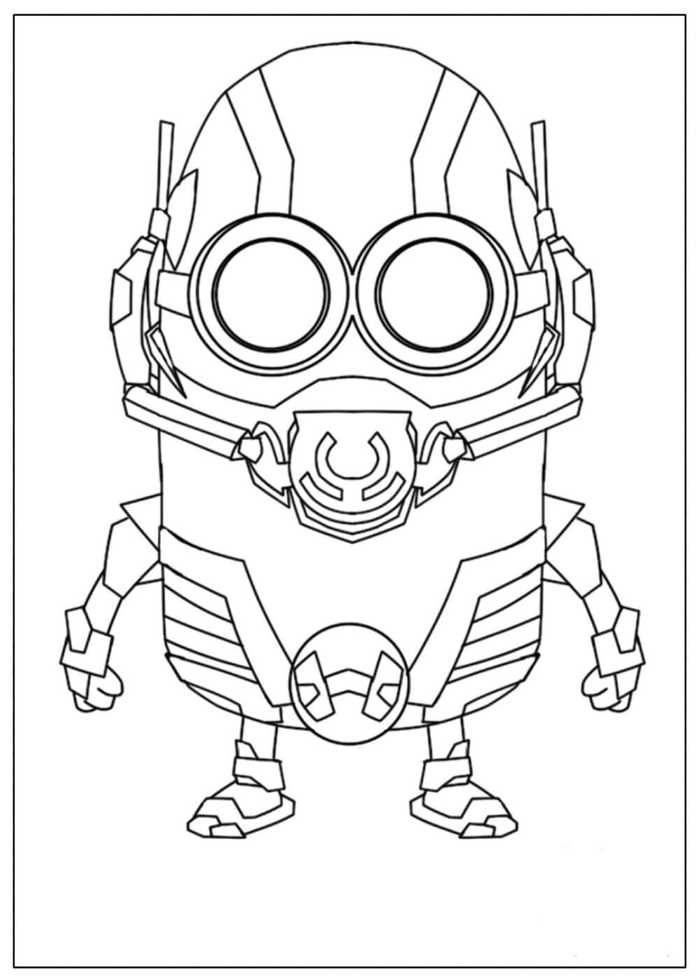 Printable Ant Man Coloring Pages Minion Coloring Pages Minions Coloring Pages Avengers Coloring
